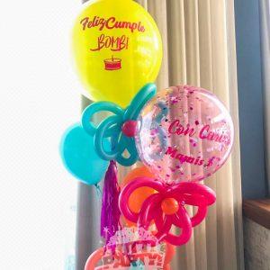 Arreglo de globos personalizado Playa del Carmen