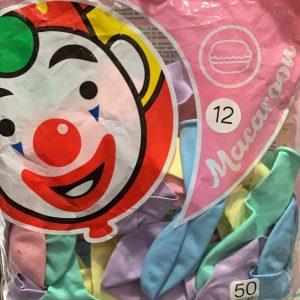 """Globo Macarrón 12"""" (Colores Pastel) con 100 piezas"""