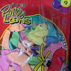 """Globo Party Loons 9"""" (Colores Pastel) con 100 piezas"""