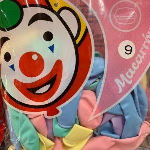 """Globo Macarrón 9"""" (Colores Pastel) con 50 piezas"""
