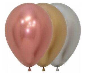 Bolsa de globos Sempertex con 50 piezas surtidas, calidad premium, colores Rose Gold, Gold y Silver (oro rosa, plata y oro)