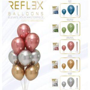 globo sempertex deluxe surtido, rosegold, gold, silver